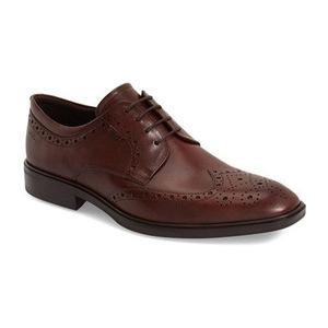 爱步 男士皮鞋 #Cognac Leather