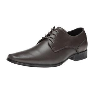 卡尔文·克雷恩 男士青灰色牛津皮鞋 #Pewter
