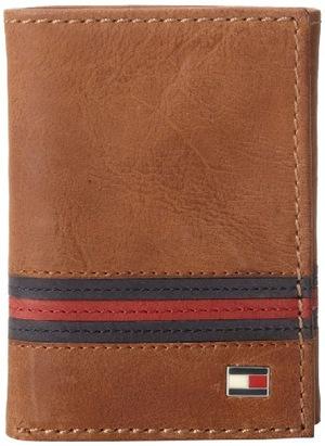 汤米·希尔费格(Tommy Hilfiger) 男士皮革钱包【一个钱包用十年】 #Saddle Tan