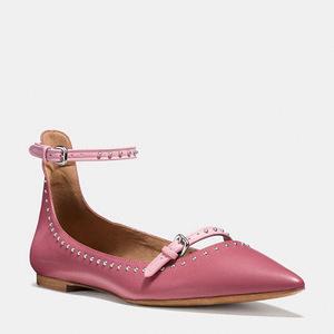 蔻驰(Coach) 女士平底鞋 #ROUGE/PINK