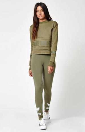 阿迪达斯(Adidas) 休闲裤 #OLIVE