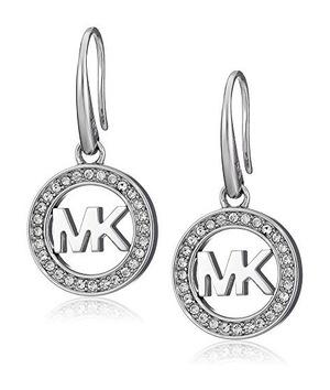 迈克高仕(Michael Kors) SilverTone MK Logo 耳坠
