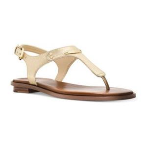 迈克高仕(Michael Kors) MICHAEL  MK Plate Thong 凉鞋 #Pale 金色 #Pale Gold