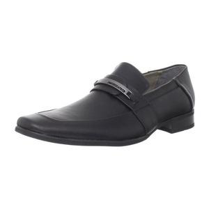 卡尔文·克雷恩(Calvin Klein) 卡尔文克莱恩-男式Brice黑色无鞋带休闲皮鞋 #Black