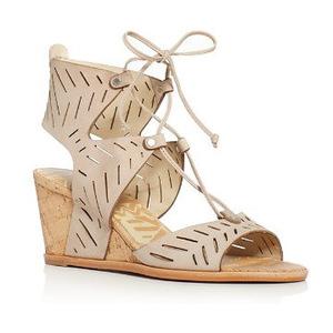 甜蜜人生 坡跟鞋 #Taupe