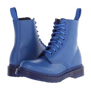 马丁靴(Dr. Martens) Pascal 8孔男士靴子 #Blue Smooth