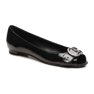 古驰 Final Sale  Patent 真皮 Interlocking G 平底鞋 #黑色 #Black