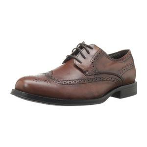 道格斯(Dockers) 男式Moritz Wingtip红棕色皮鞋 #Dark Tan