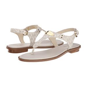 MICHAEL Michael Kors 女士休闲凉鞋 #Vanilla Mini Mk Sig Pvc