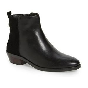蔻驰(Coach) 女士短靴 #Black Leather/ Suede