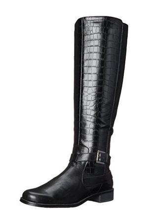 爱柔仕(Aerosoles) Women's with Pride Riding Boot,Black Crocodile,5 M US #Black Crocodile
