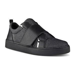 玖熙 女士平底休闲鞋 #BLACK MULTI FABRIC