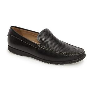 爱步 男士休闲乐福鞋 #Black