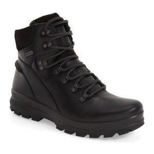 爱步 男士靴子 #Black/ Black Leather