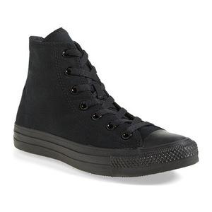 匡威 女士高帮帆布鞋 #Black Monochrome