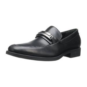 卡尔文·克雷恩 Ezra 男式黑色休闲皮鞋 #Black