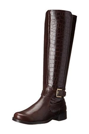 爱柔仕(Aerosoles) 女式平底长筒靴子 #棕色 #Brown Crocodile