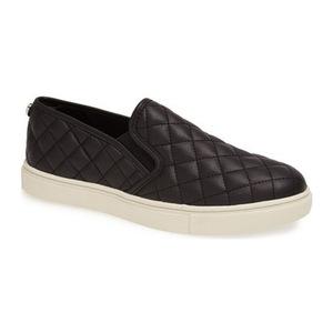 史蒂夫·马登 女士一脚蹬休闲鞋 #Black Faux Leather
