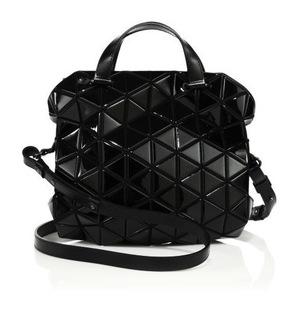 三宅一生 Geometric 女士手提包 #Black