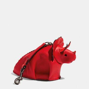 蔻驰(Coach) Tricky Coin Case in 拼接色 Glovetanned 真皮 #暗 REDVINTAGE 橙色 #DARK RED/VINTAGE ORANGE