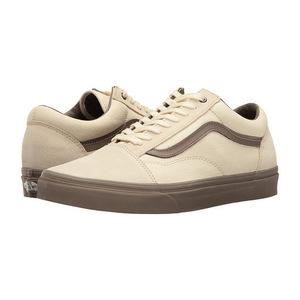 万斯(Vans) Old Skool #C D CreamWalnut #(C&D) Cream/Walnut