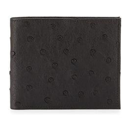 尼曼(Neiman Marcus) Ostrich BiFold 钱包 #棕色 #BROWN