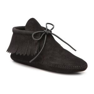 迷你唐卡(Minnetonka) 女士经典流苏靴子 #Black