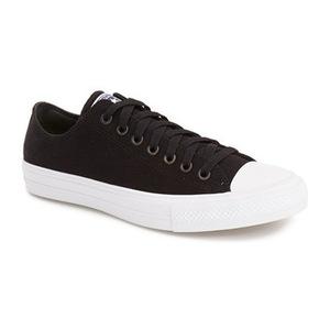匡威(Converse) 男士低帮帆布鞋 #Black/ White/ Navy Canvas