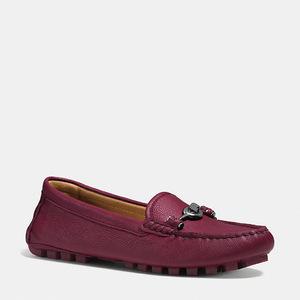 蔻驰(Coach) 女士软皮平底鞋 #BURGUNDY