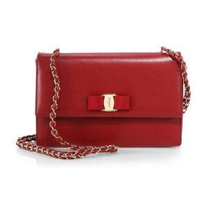 菲拉格慕 女士斜跨包 #Rosso-Red