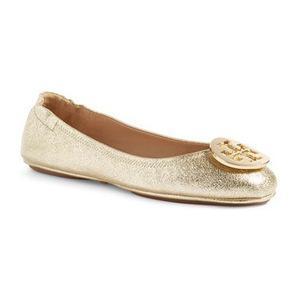 汤丽柏琦(Tory Burch) Minnie Travel 芭蕾平底鞋 #Spark 金色 #Spark Gold