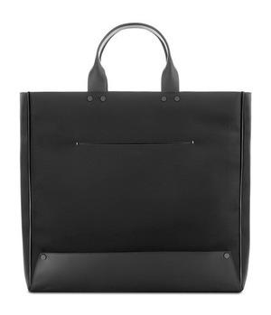 Troubadour Nylon   真皮手提包 #黑色尼龙黑色真皮 #Black Nylon/ Black Leather