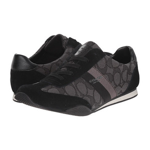 蔻驰(Coach) 女士运动鞋 #Black/Smoke/Black Sig/Suede