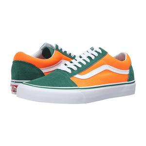 万斯(Vans) Old Skool #Brite Verdant GreenNeon 橙色 #(Brite) Verdant Green/Neon Orange