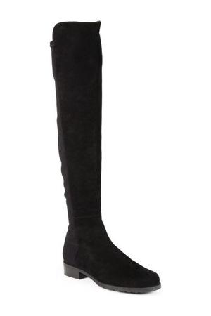 斯图尔特·韦茨曼(Stuart Weitzman) 5050麂皮过膝长靴/黑色 #Black