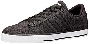 adidas NEO 阿迪达斯-男式Daily Lifestyle黑色板鞋 #Black/Black/White