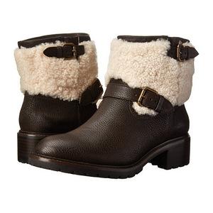 蔻驰(Coach) 女士靴子 #Chestnut/Natural Vintage Leather/Shearling