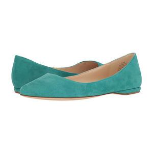 玖熙(NINE WEST) 女士平底鞋 #Dark Turquoise Suede