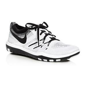 耐克 Womens Free 涤捻 Focus Flyknit 系带板鞋 #WhiteBlack 冷灰色 #White/Black Cool Grey