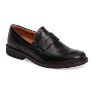 爱步 男士乐福鞋 #Black