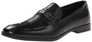 卡尔文·克雷恩(Calvin Klein) Horace 男式黑色无鞋带休闲皮鞋 #Black