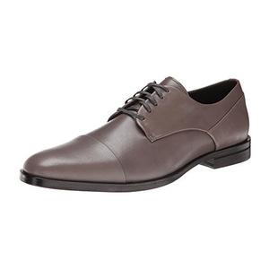 卡尔文·克雷恩(Calvin Klein) 卡尔文·克莱恩- Men's Kipp Leather Oxford男式牛津鞋 #Pewter