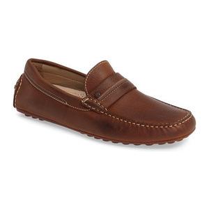 爱步 男士休闲乐福鞋 #Mahogany