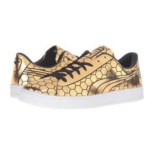 彪马(PUMA) Basket经典金属色男鞋 #Gold