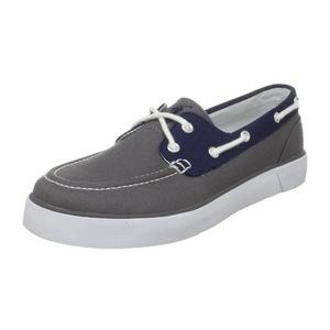 拉夫·劳伦(Polo Ralph Lauren) 拉夫劳伦(Ralph Lauren)-男式Lander灰色时尚帆布鞋 #Grey/Navy/White