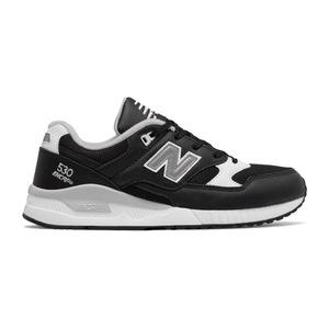 新百伦(New Balance) 530 真皮 #黑色 + 白色灰色 #Black with White & Grey