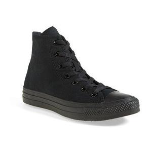 匡威(Converse) 女士高帮帆布鞋 #Black Monochrome