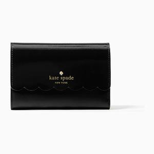 凯特·丝蓓(Kate Spade) lily avenue patent kieran #blackcrisp 亚麻 #Black/crisp linen