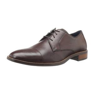 可汗(Cole Haan) Men's Lenox Hill Cap Oxford男式正装皮鞋 #Dark Brown