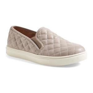 史蒂夫·马登 女士一脚蹬休闲鞋 #Grey Faux Leather